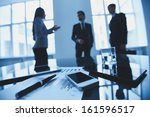close up of business objects at ... | Shutterstock . vector #161596517