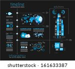 timeline to display your data... | Shutterstock .eps vector #161633387