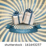 retri holiday background with... | Shutterstock .eps vector #161643257