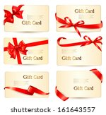 set of beautiful gift cards... | Shutterstock .eps vector #161643557