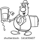 black and white cartoon vector... | Shutterstock .eps vector #161650607
