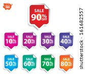vector  sticker or sign sale up ... | Shutterstock .eps vector #161682557