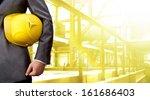 engineer yellow helmet for... | Shutterstock . vector #161686403