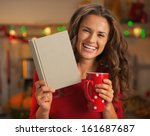 Happy Young Woman With Cup Of...