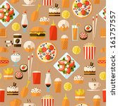 seamless pattern with fast food ... | Shutterstock .eps vector #161757557