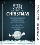 winter christmas background... | Shutterstock .eps vector #161790737