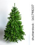 christmas tree on a white... | Shutterstock . vector #161798237