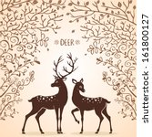 10,animal,antler,art,background,beautiful,cartoon,cute,decoration,deer,design,drawing,element,eps,flower