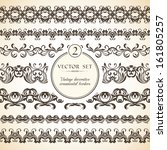 vector set of vintage seamless... | Shutterstock .eps vector #161805257