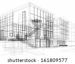 abstract architecture buildings | Shutterstock . vector #161809577
