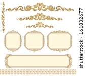 set of vintage ornate frames... | Shutterstock . vector #161832677