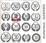30 years anniversary laurel...   Shutterstock .eps vector #161834303