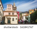 the old historic town center of ... | Shutterstock . vector #161841767