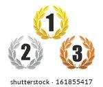 illustration of three laurel...   Shutterstock . vector #161855417