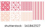 flower patterned textile print... | Shutterstock .eps vector #161862527