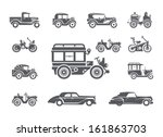 Vintage Cars. Icons Set