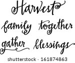 harvest set | Shutterstock .eps vector #161874863