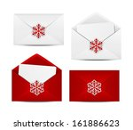 set of christmas envelope icons | Shutterstock .eps vector #161886623