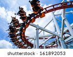 rollercoaster ride with sky at... | Shutterstock . vector #161892053