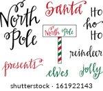 north pole christmas set | Shutterstock .eps vector #161922143