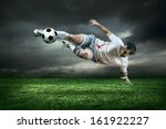 football player with ball in... | Shutterstock . vector #161922227