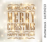 vector merry christmas and... | Shutterstock .eps vector #161924213