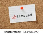 the word limited changed to... | Shutterstock . vector #161938697