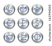 icon set on silver buttons....
