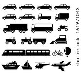 transportation icons set | Shutterstock .eps vector #161971043