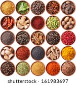 collection of different spices... | Shutterstock . vector #161983697