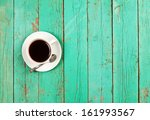 coffee cup top view on old... | Shutterstock . vector #161993567