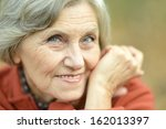 elderly woman thinking about... | Shutterstock . vector #162013397