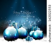 modern christmas greeting card... | Shutterstock .eps vector #162022553