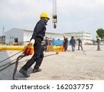 atmosphere in the construction... | Shutterstock . vector #162037757