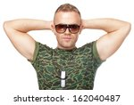 young army soldier in... | Shutterstock . vector #162040487