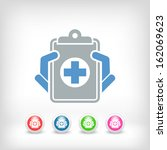 medical records icon | Shutterstock .eps vector #162069623