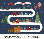 christmas town vector... | Shutterstock .eps vector #162104033