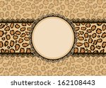 card with leopard texture... | Shutterstock .eps vector #162108443
