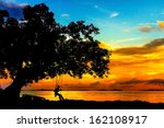 Silhouette Of Person On...