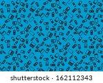mobile phones seamless pattern | Shutterstock .eps vector #162112343