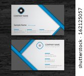 Vector abstract creative business cards (set template)  | Shutterstock vector #162125057