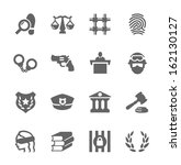 simple set of law and justice... | Shutterstock .eps vector #162130127