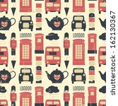 vintage seamless pattern with...   Shutterstock .eps vector #162130367