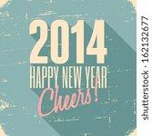 happy new year 2014 retro...   Shutterstock .eps vector #162132677