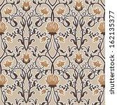 vintage flowers vector pattern | Shutterstock .eps vector #162135377