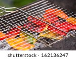 sweet peper on the grill