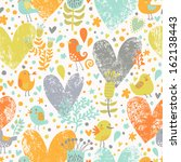 stylish floral seamless pattern ... | Shutterstock .eps vector #162138443