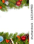 christmas background with balls ... | Shutterstock . vector #162144983