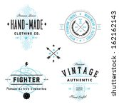 vector vintage badge and label... | Shutterstock .eps vector #162162143