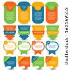 web element set   Shutterstock .eps vector #162169553